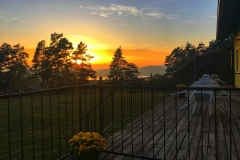 Západ slunce z terasy